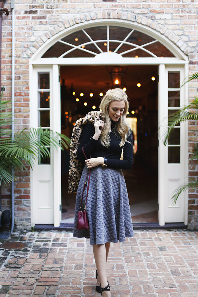 midi skirt for a winter event