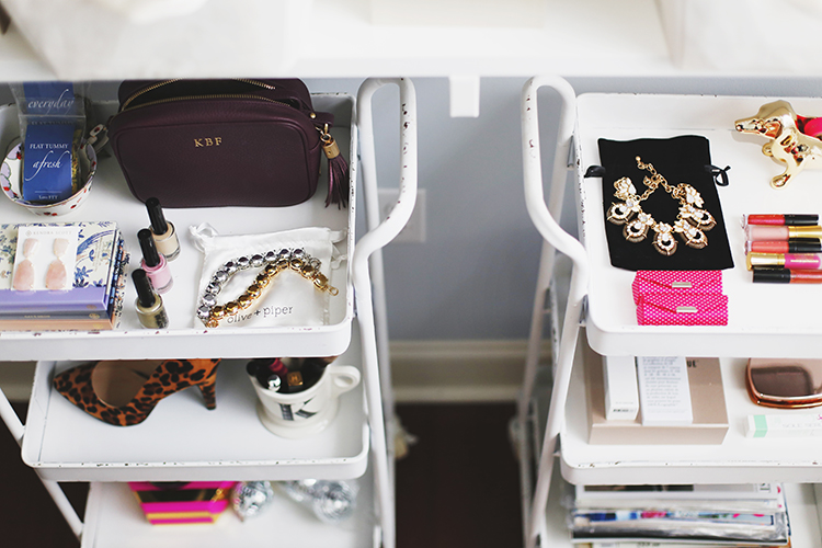 rolling carts for accessory storage