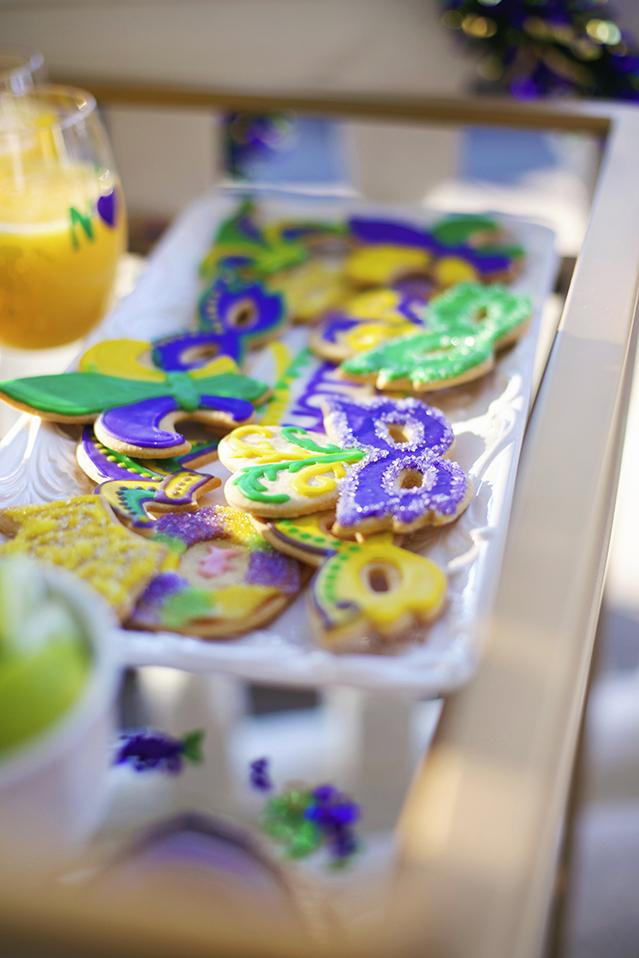 mardi gras sugar cookies