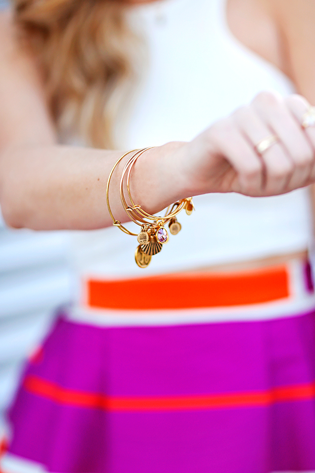 summer bracelet stack from alex and ani