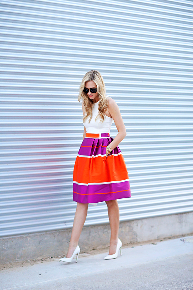 party perfect midi skirt for summer
