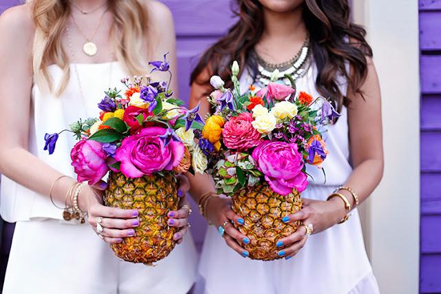 pineapple flower vases