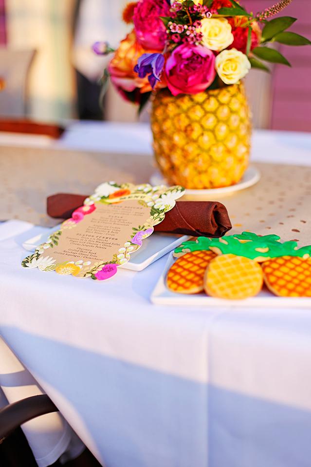 minted caribbean menu cards