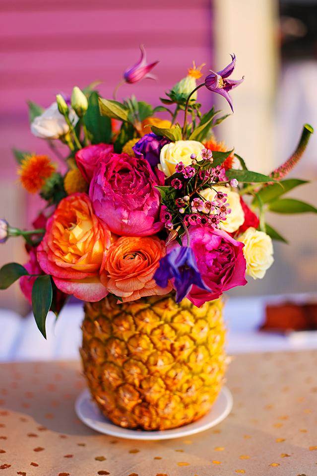 pineapple floral arrangement