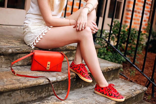 bright orange accessories