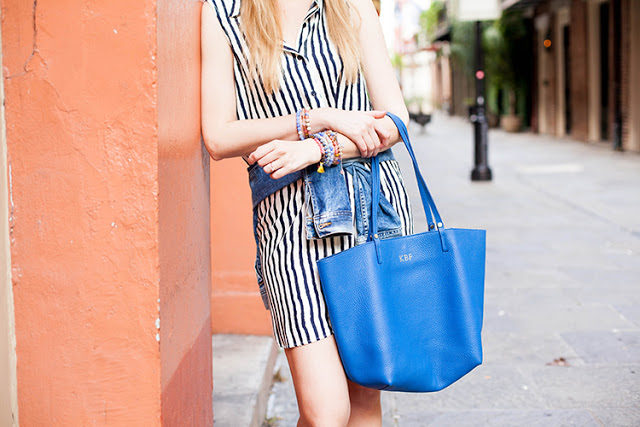 stripes with shades of blue