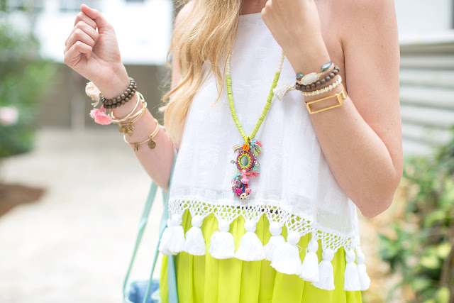 neon and tassel outfit inspiration