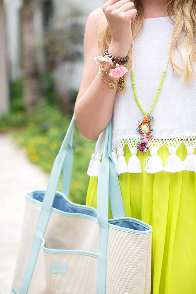 tassels and neon outfit inspiration