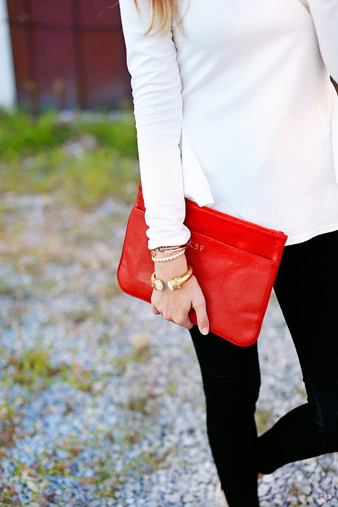 Gigi New York Chloe clutch in Paprika