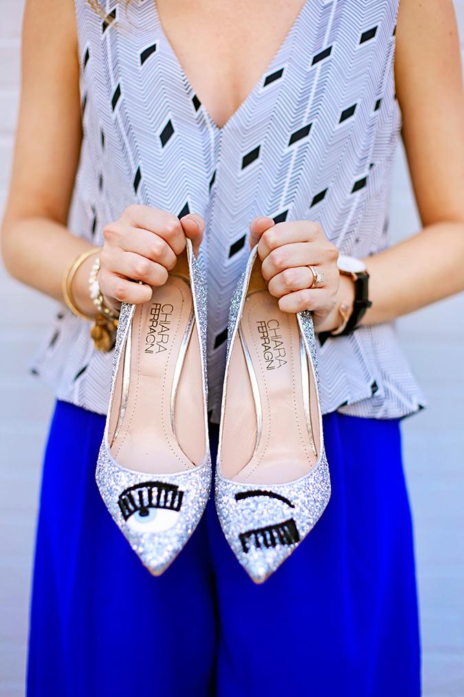 Chiara Ferragni glitter pumps