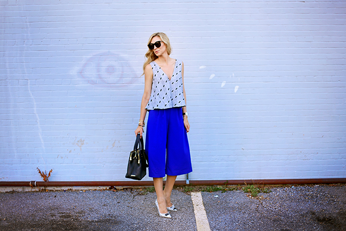 C/MEO Collective culottes and crop top