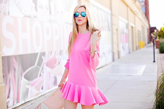 hot pink Chicwish dress