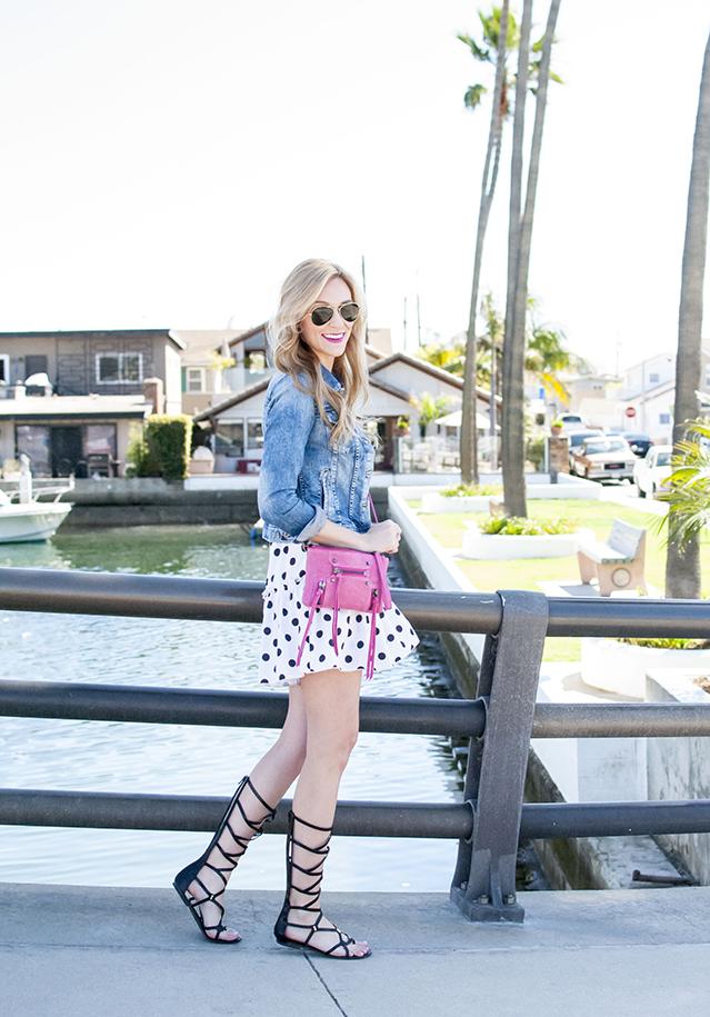 polka dot outfit idea