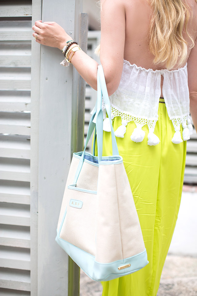 white halter with neon maxi skirt