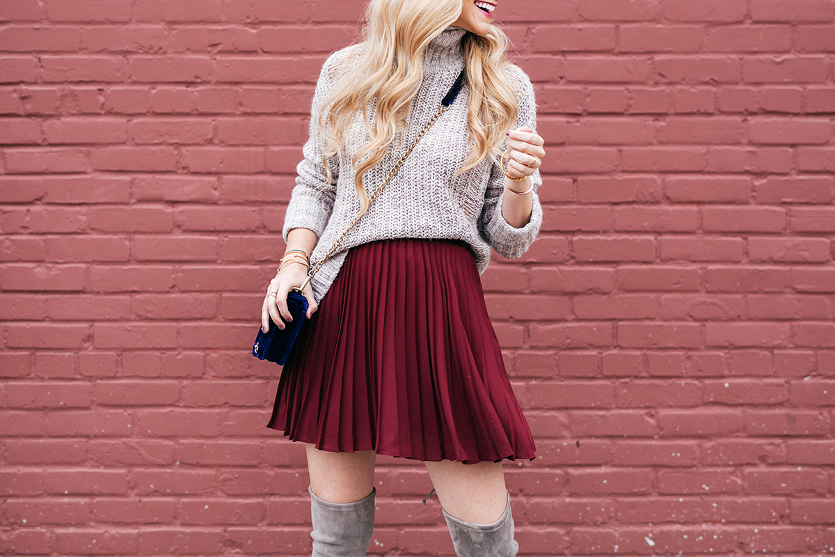 How To Wear The Pleated Skirt Trend + New Holiday Traditions