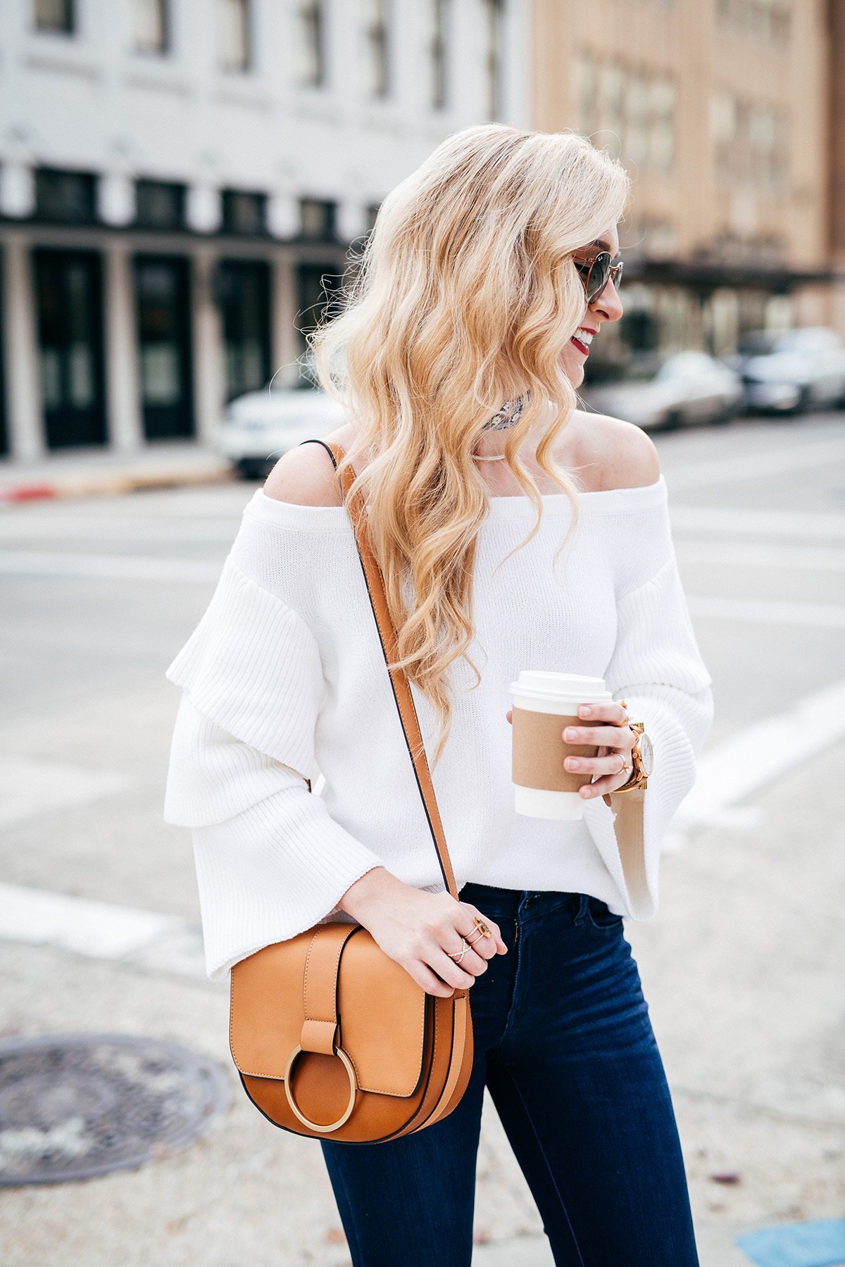 Blogger Q&A w/ A Pinch of Lovely | ruffle sleeve sweater