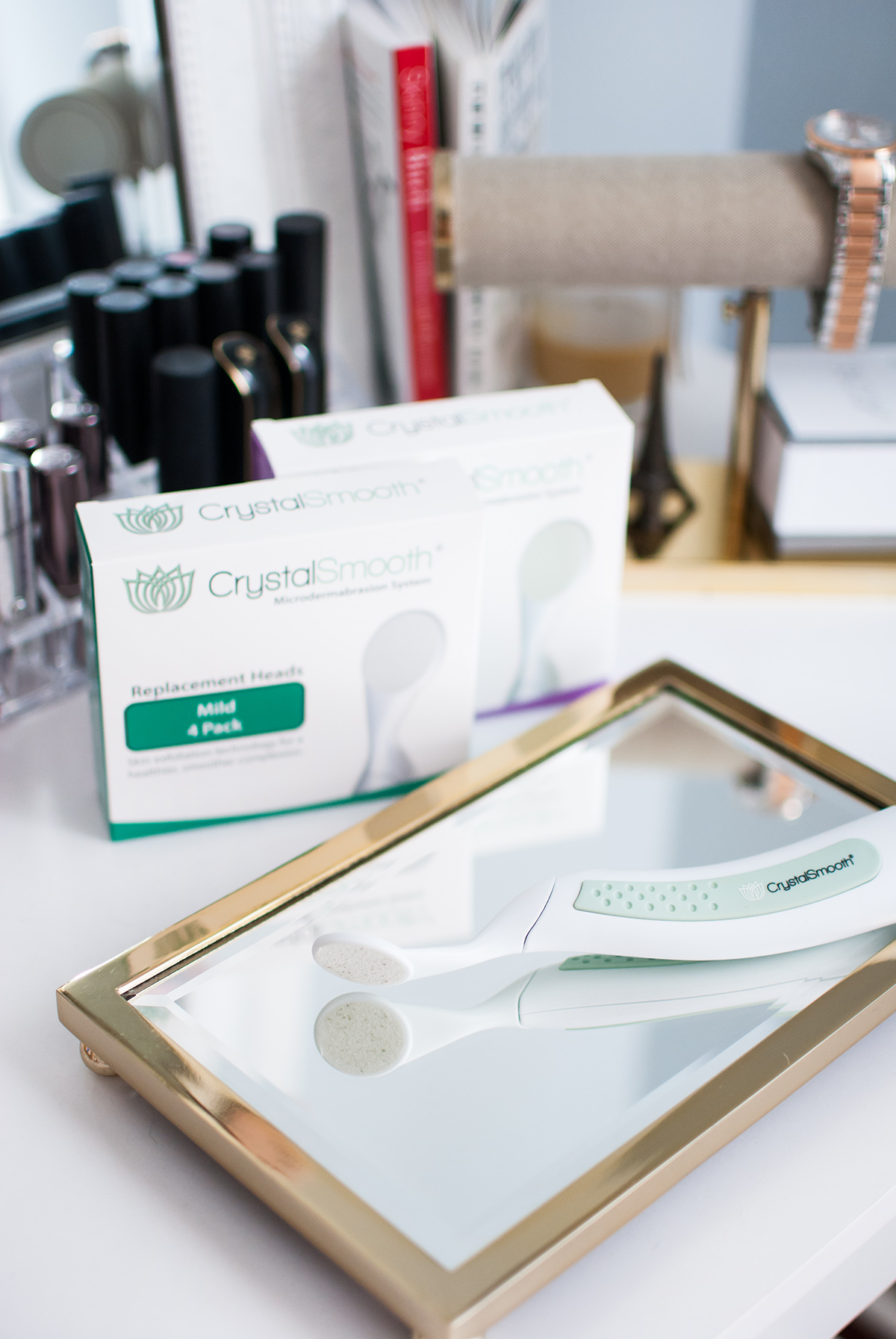 Favorite Wellness Products   This handheld skin exfoliator is an easy way to achieve microdermabrasion at home!