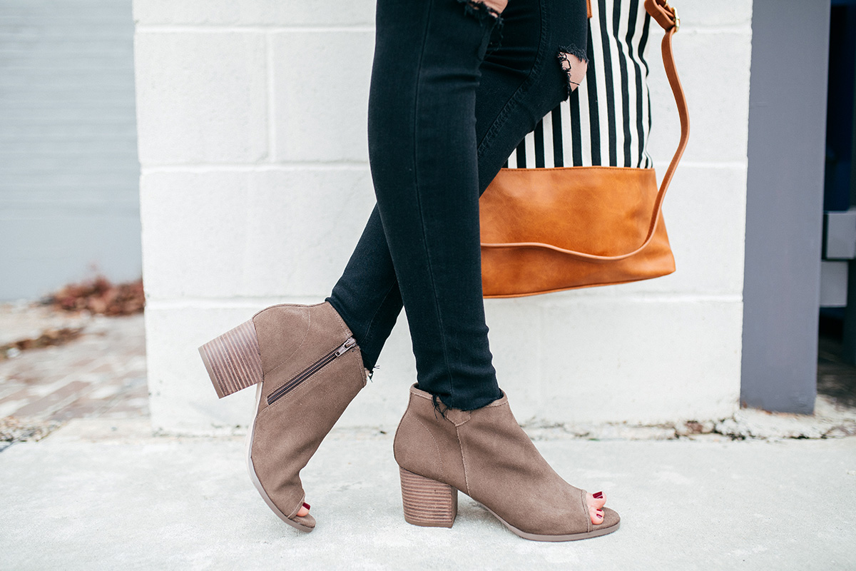 Sole Society open toe booties