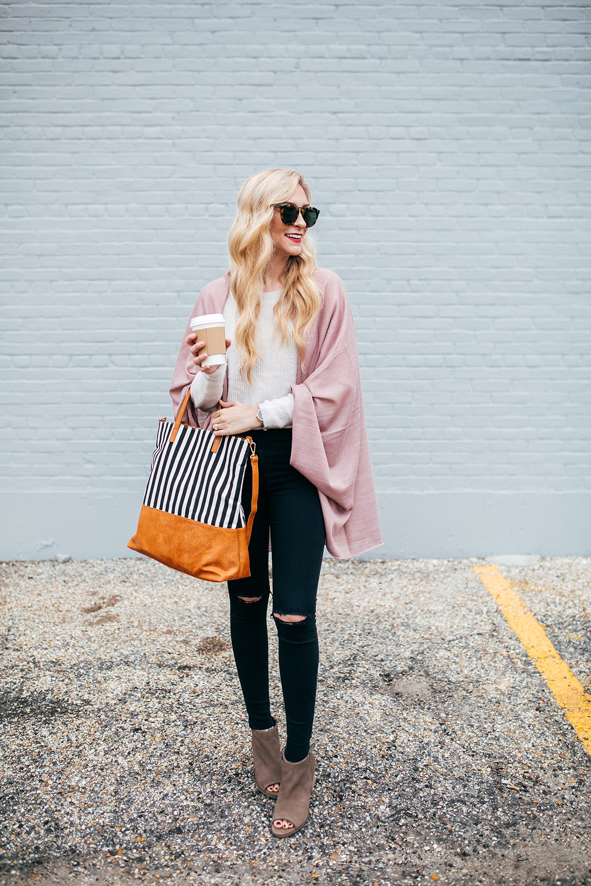 This striped tote would make a great work bag!