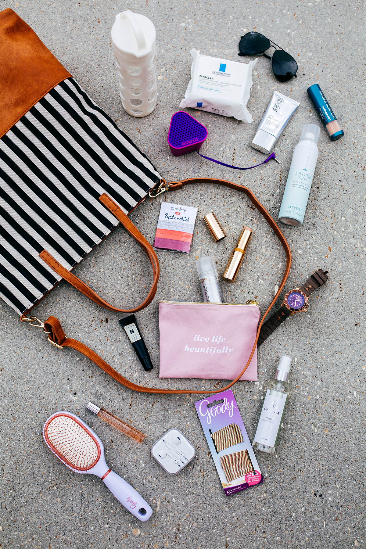 Gym Bag Heroes | Post workout beauty essentials to take you from barre to brunch! | Gym Bag Beauty Products