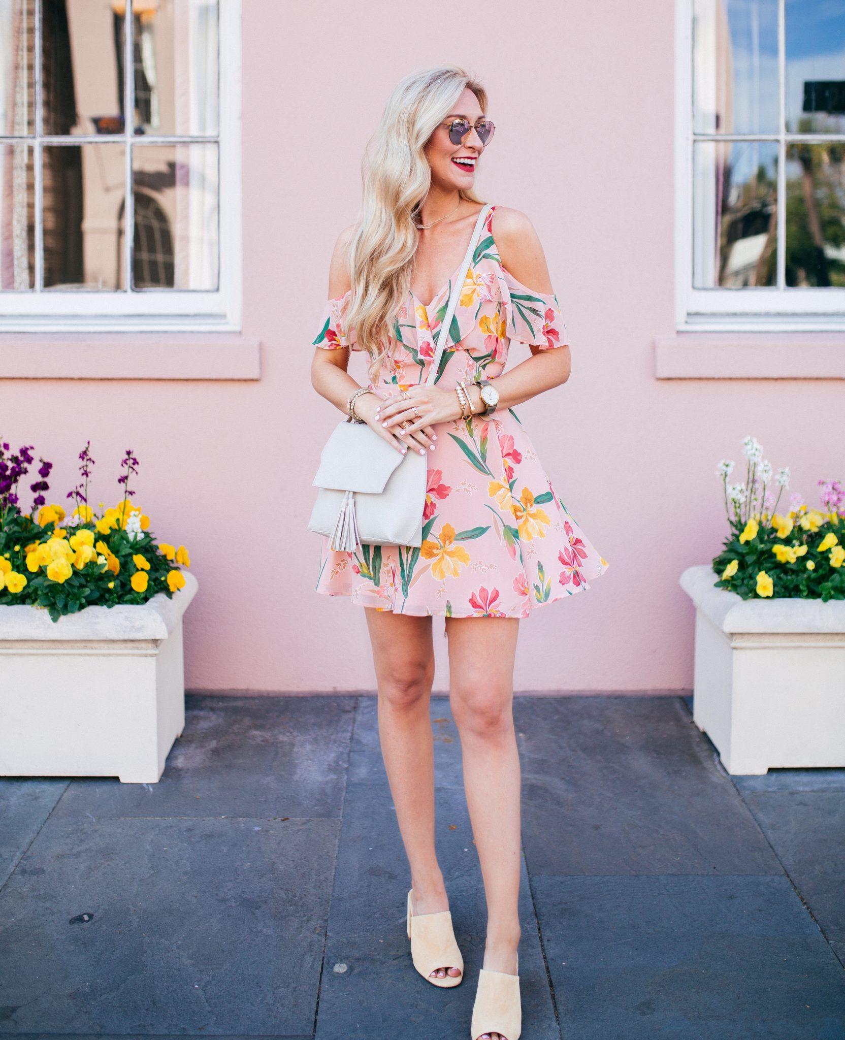 Blush Floral Privacy Please Dress   Spring Dresses