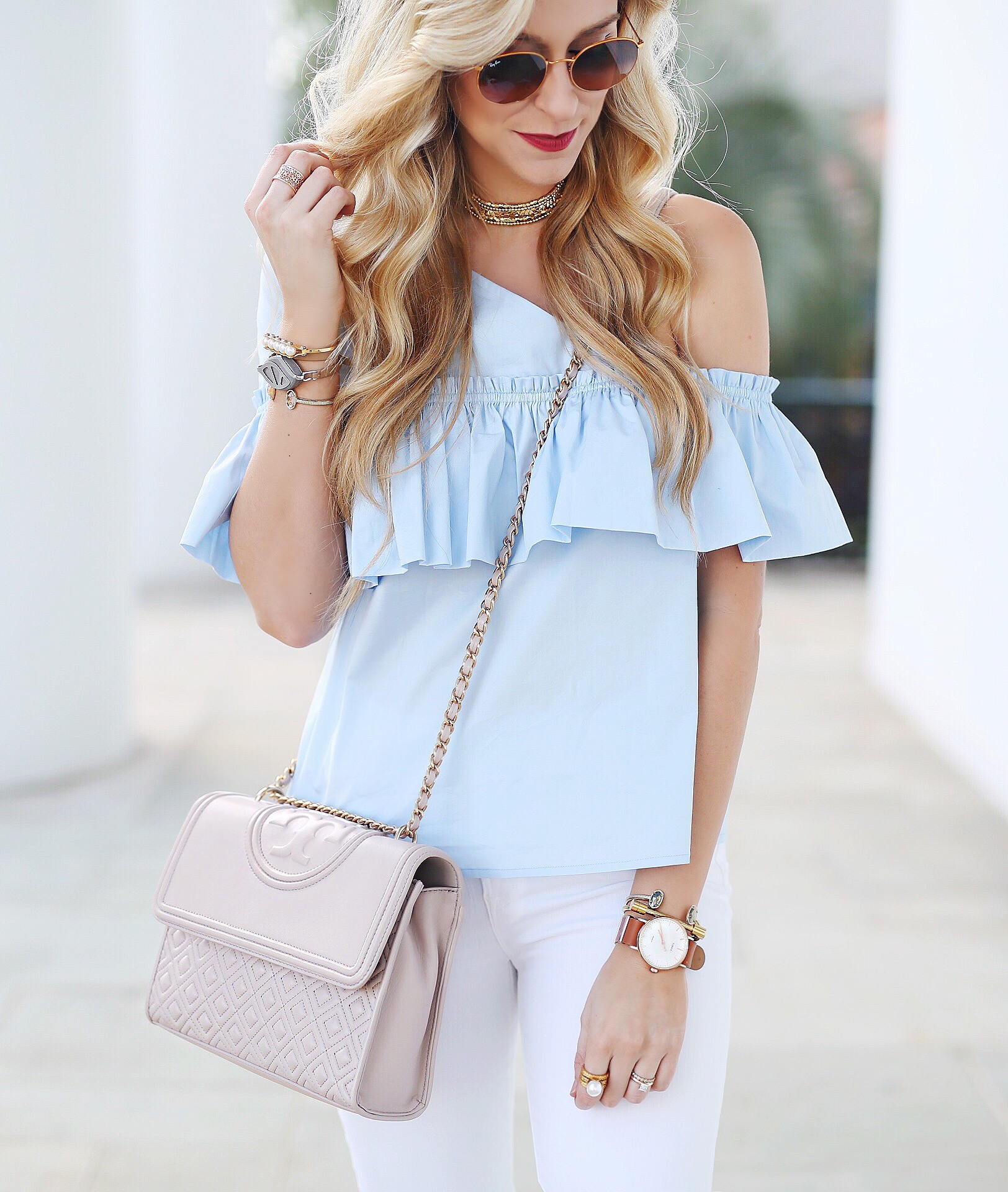 One Shoulder Ruffle Top | Spring Outfit Ideas