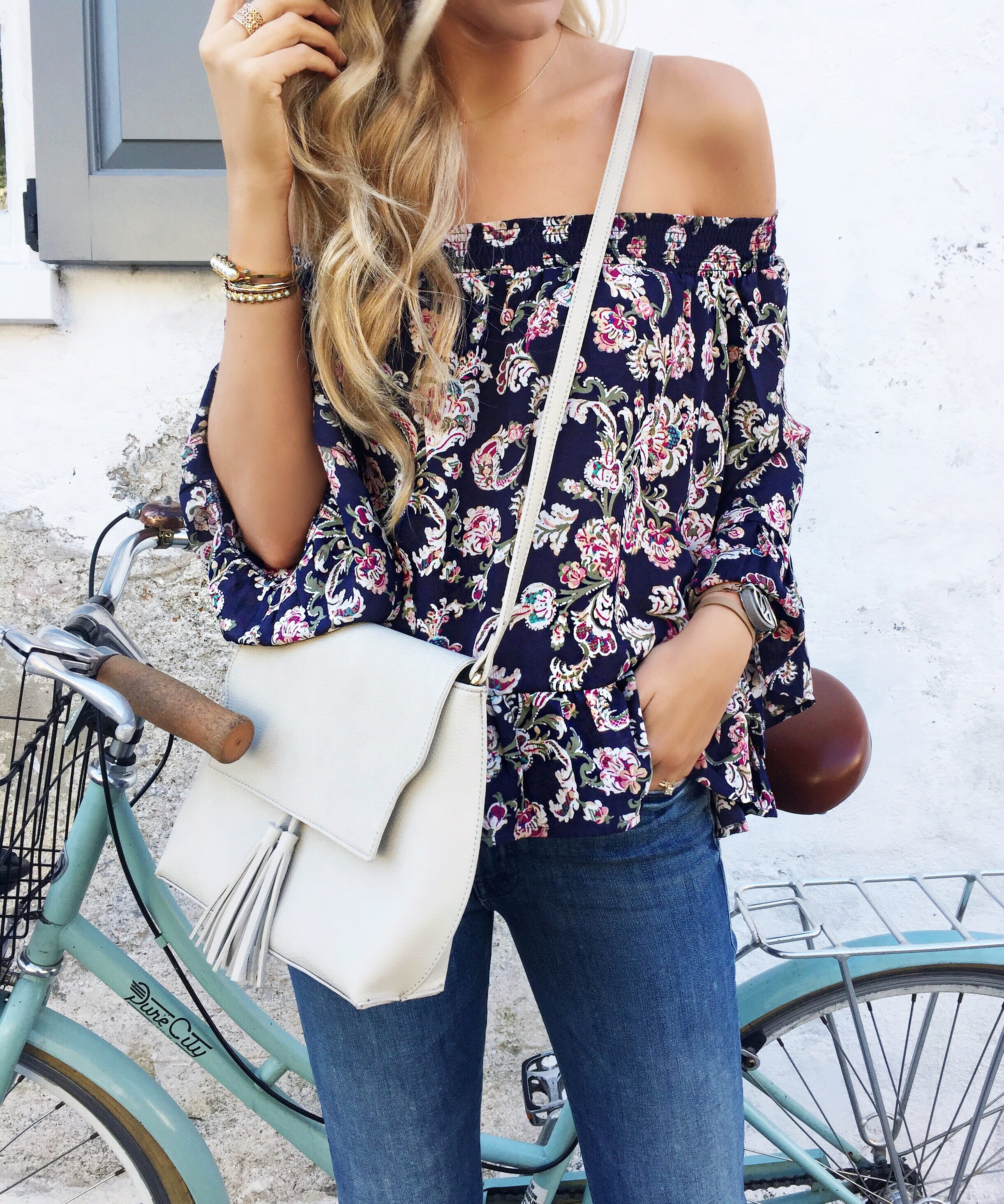 Floral Off The Shoulder Top | Spring Outfit Ideas