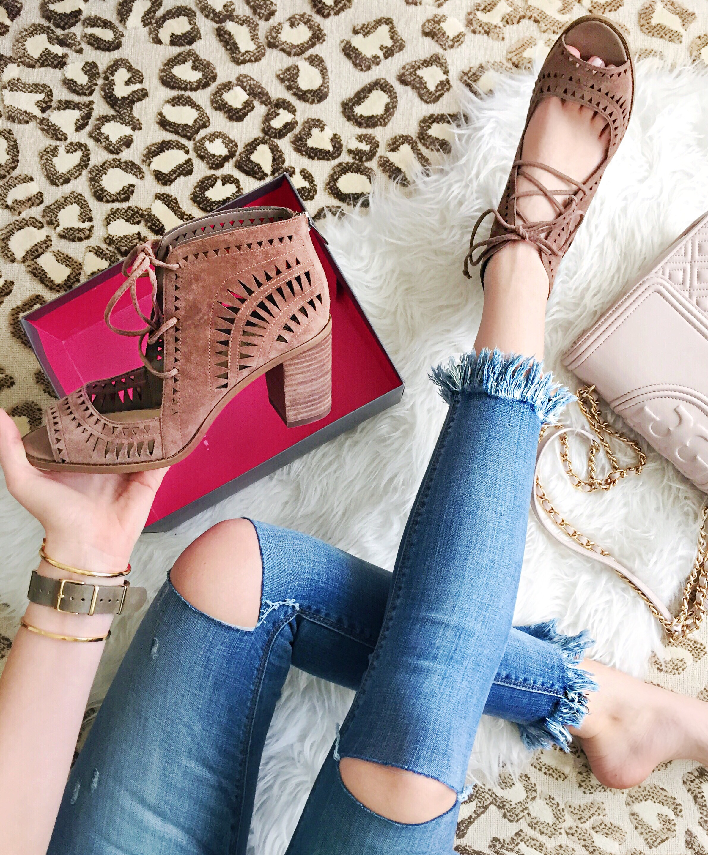 Brown Lace Up Heels   Spring Shoes