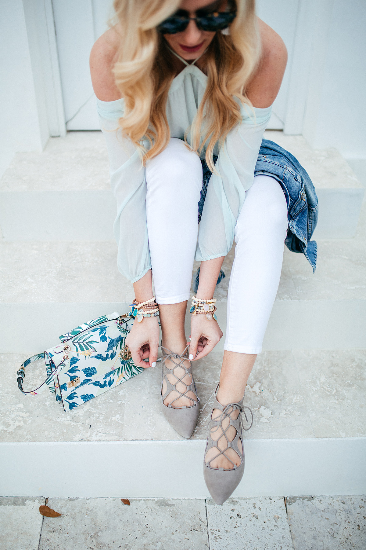 Rockport lace-up flats - a comfy AND pretty option for gals on their feet all day