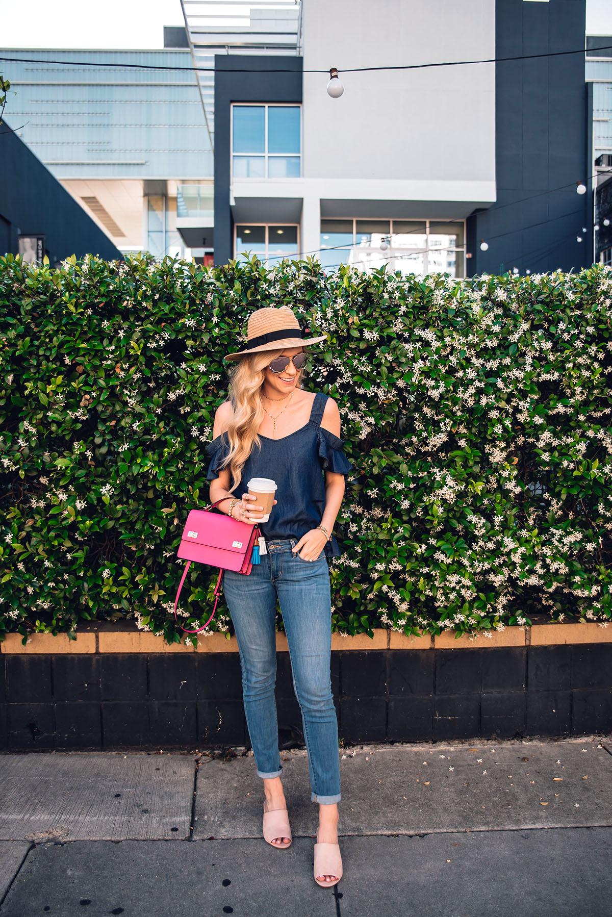 spring outfit ideas | Henri Bendel spring schoolbag