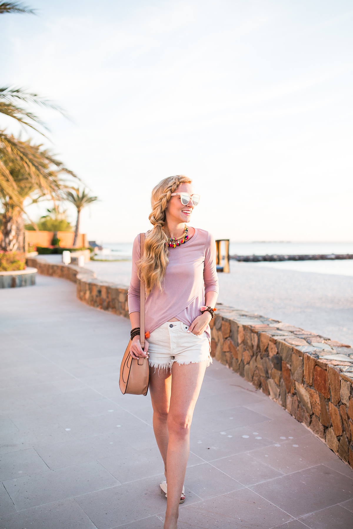 denim cutoff shorts | spring outfit ideas | Lord & Taylor Sale