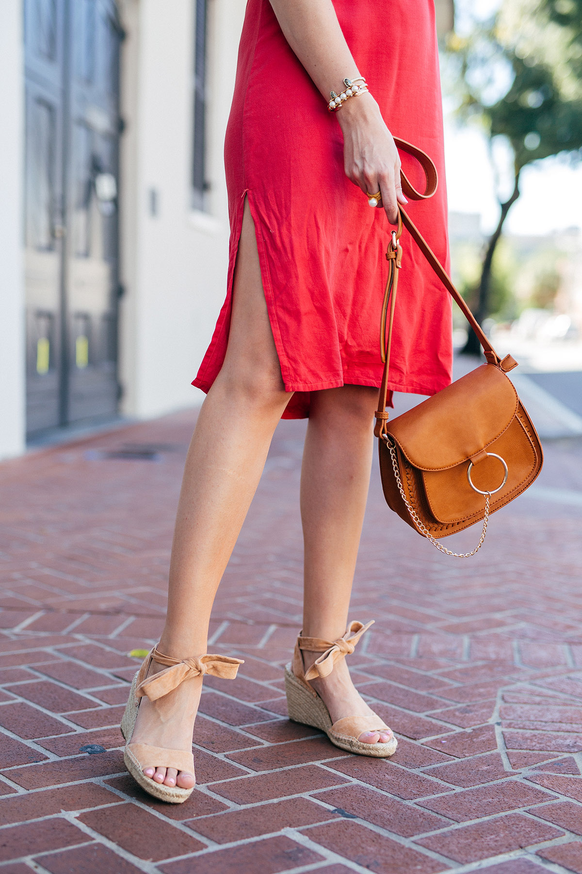The everyday espadrille + the classic slip dress