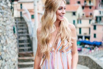 Planning Your Trip to Cinque Terre   Italy Bucket List   Free People Rainbow Maxi Dress
