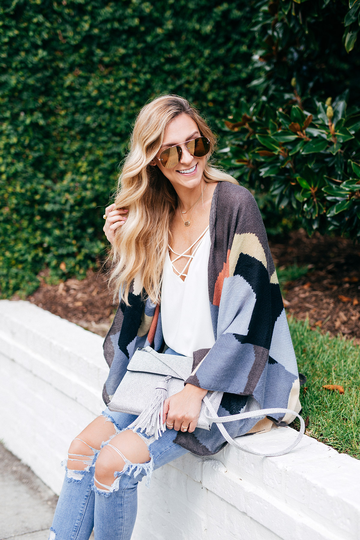 Late Summer Outfit Ideas | Patterned Kimono and Camisole
