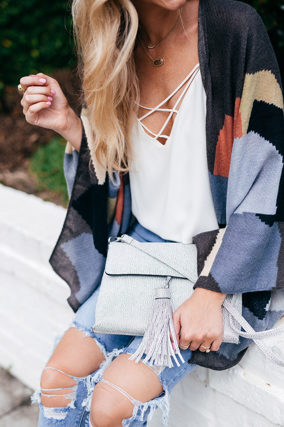 Late Summer Outfit Ideas | Transitioning Into Fall | Patterned Kimono