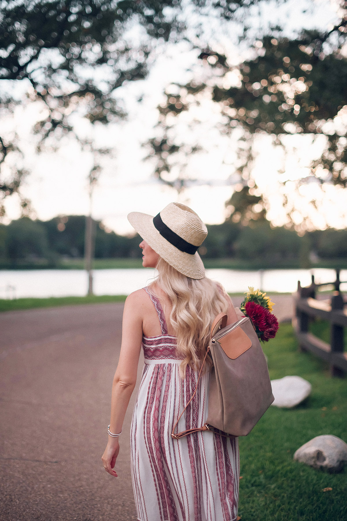 Late Summer Outfit Ideas | Transitional Midi Dress