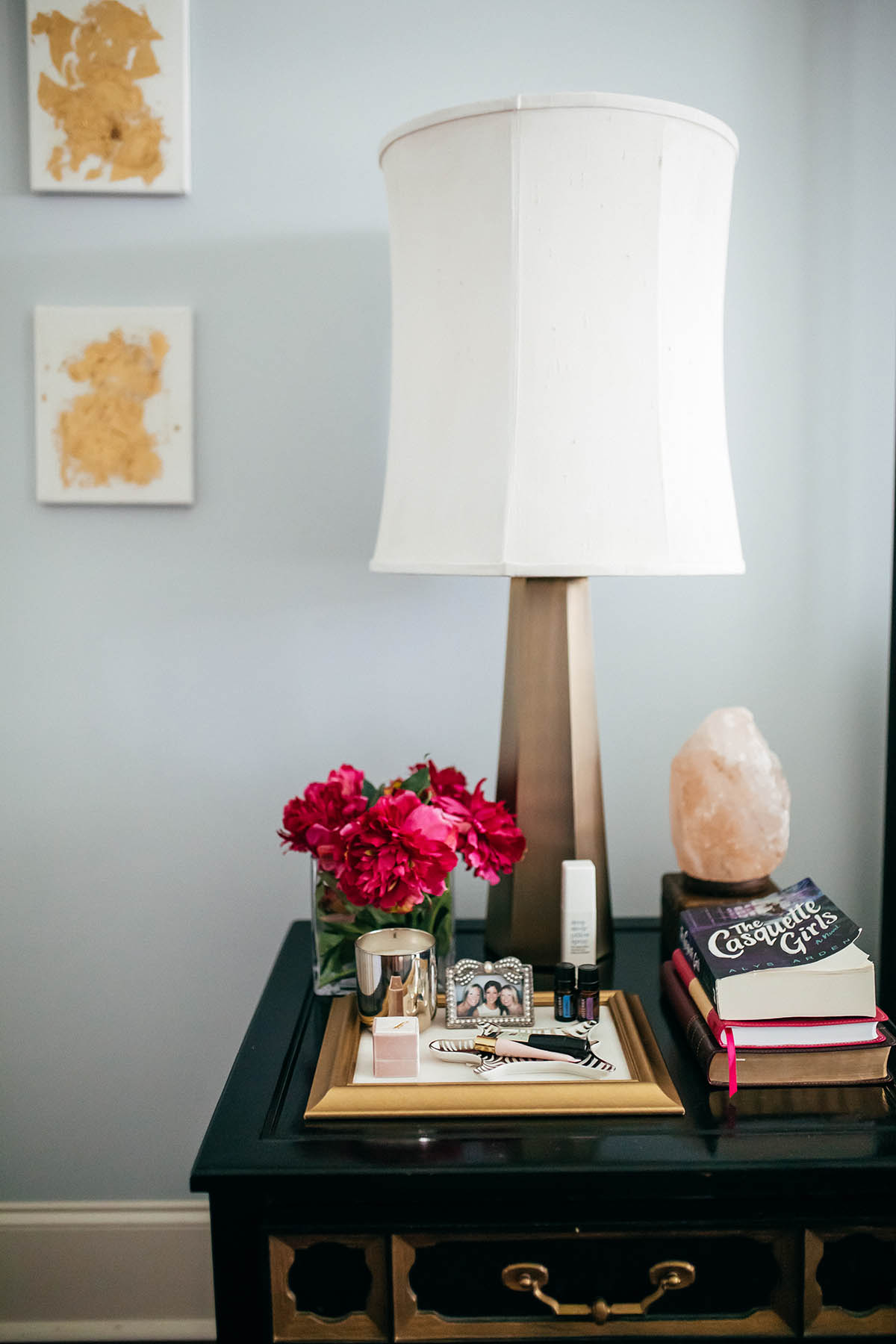 Master Bedroom Inspiration   How to Create a Space For Positivity   Pretty Bedroom Organization Ideas   Himalayan Salt Lamp