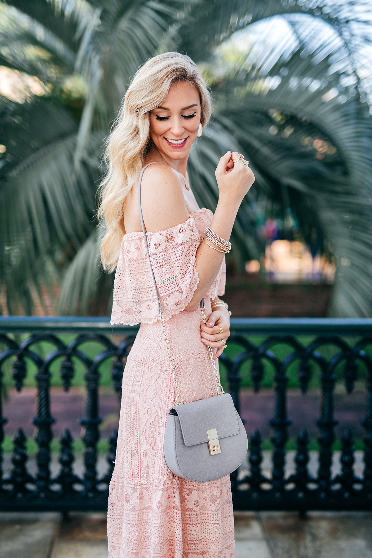 Blush lace cocktail dress | Late Summer Cocktail Dress