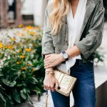 Fall Utility Cargo Jacket | Cropped Cargo Jacket | Gold Crossbody Bag