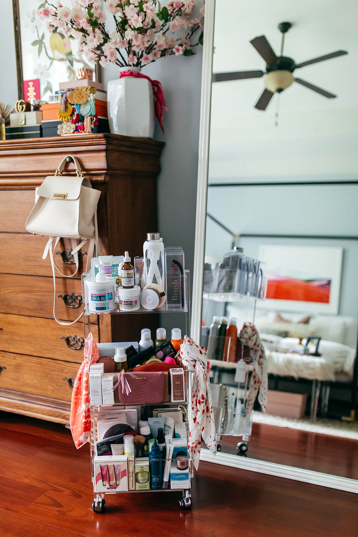 Master Bedroom Inspiration   How to Create a Space For Positivity   Pretty Bedroom Organization