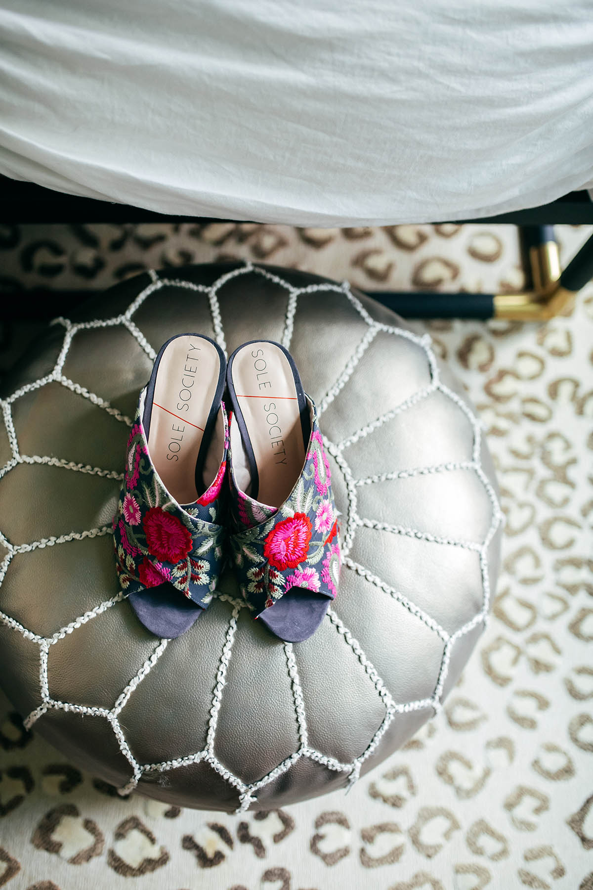 Sole Society Embroidered Mules