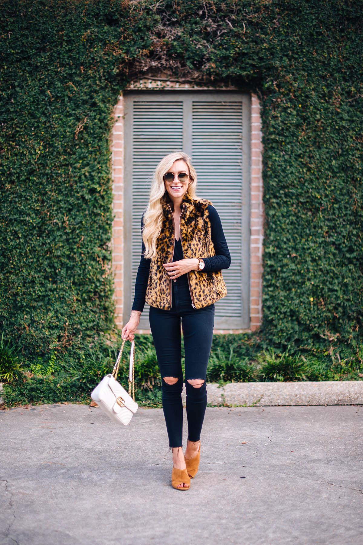 Animal Print Faux Fur Vest | Fall Outfit Ideas