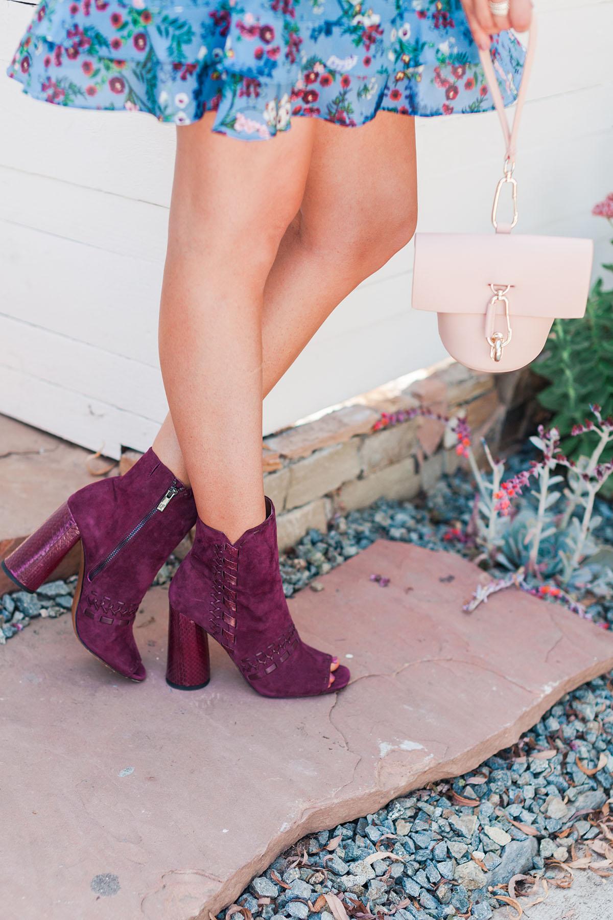 Donald J. Pliner Burgundy Boots