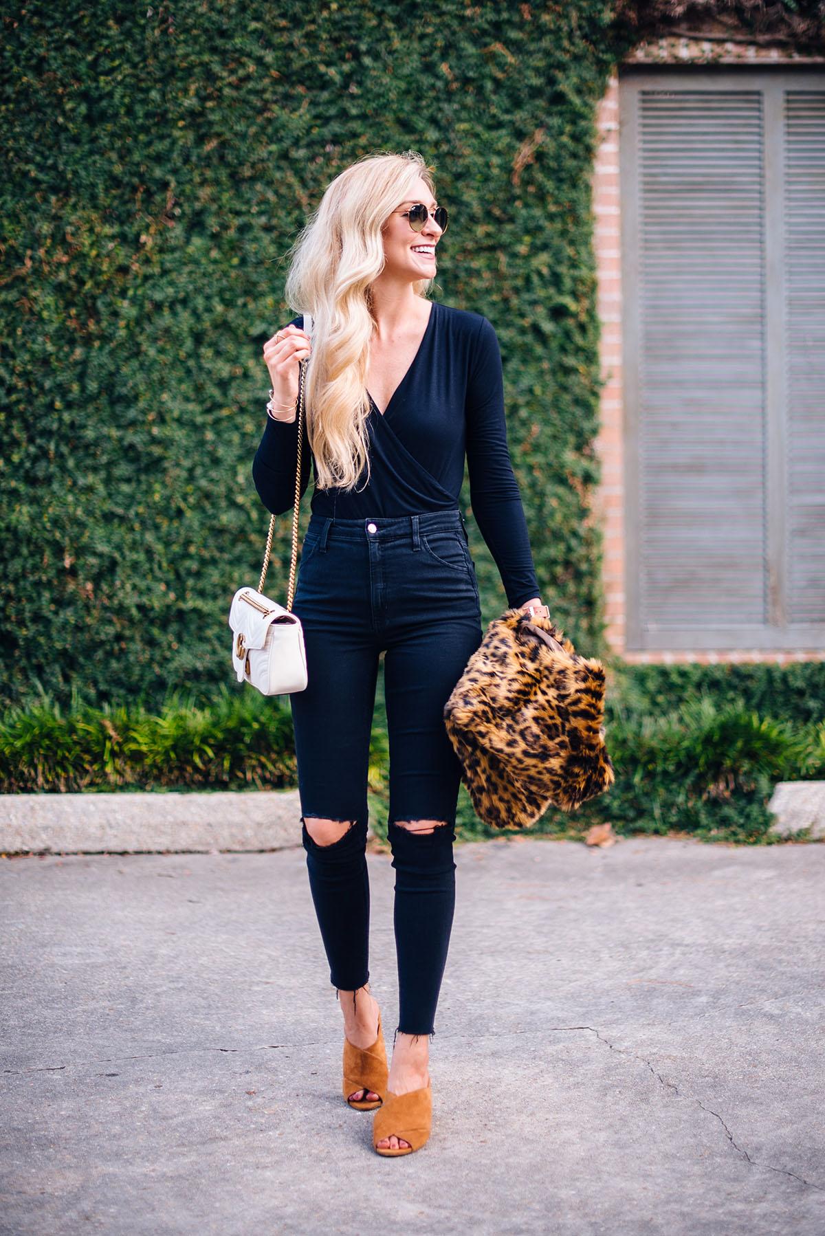 Animal Print Faux Fur Vest | Fall Outfit Ideas