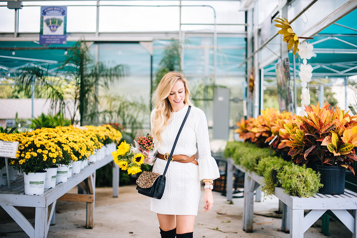 Fall To-Do List Ideas | Sweater Dress + Black OTK Boots Under $150