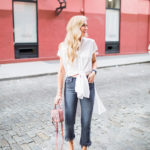 How to Wear the Fall Raw Hem Jean Trend