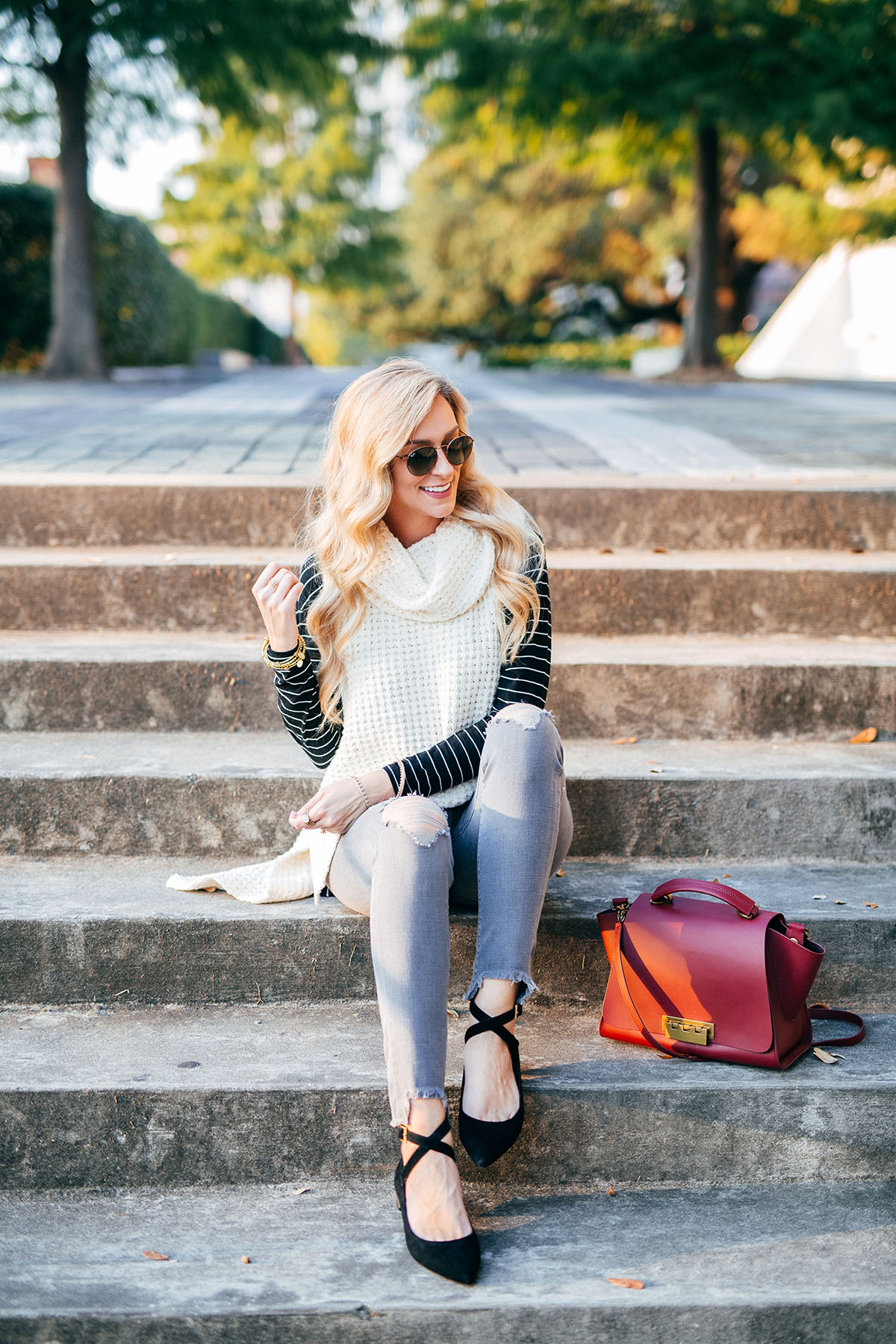 Easy work to weekend flats | Rockport Adelyn Flats | Zappos | Fall Outfit Ideas