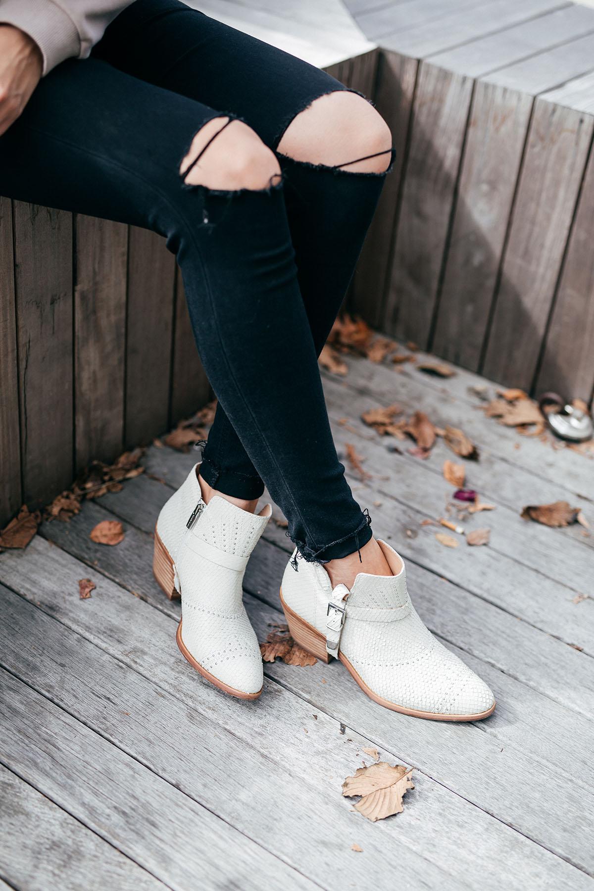 White Dolce Vita Boots