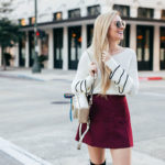 Holiday Date Night Outfit Ideas | Holiday Date Night Accessories | Henri Bendel | Ruffle Sleeve sweater