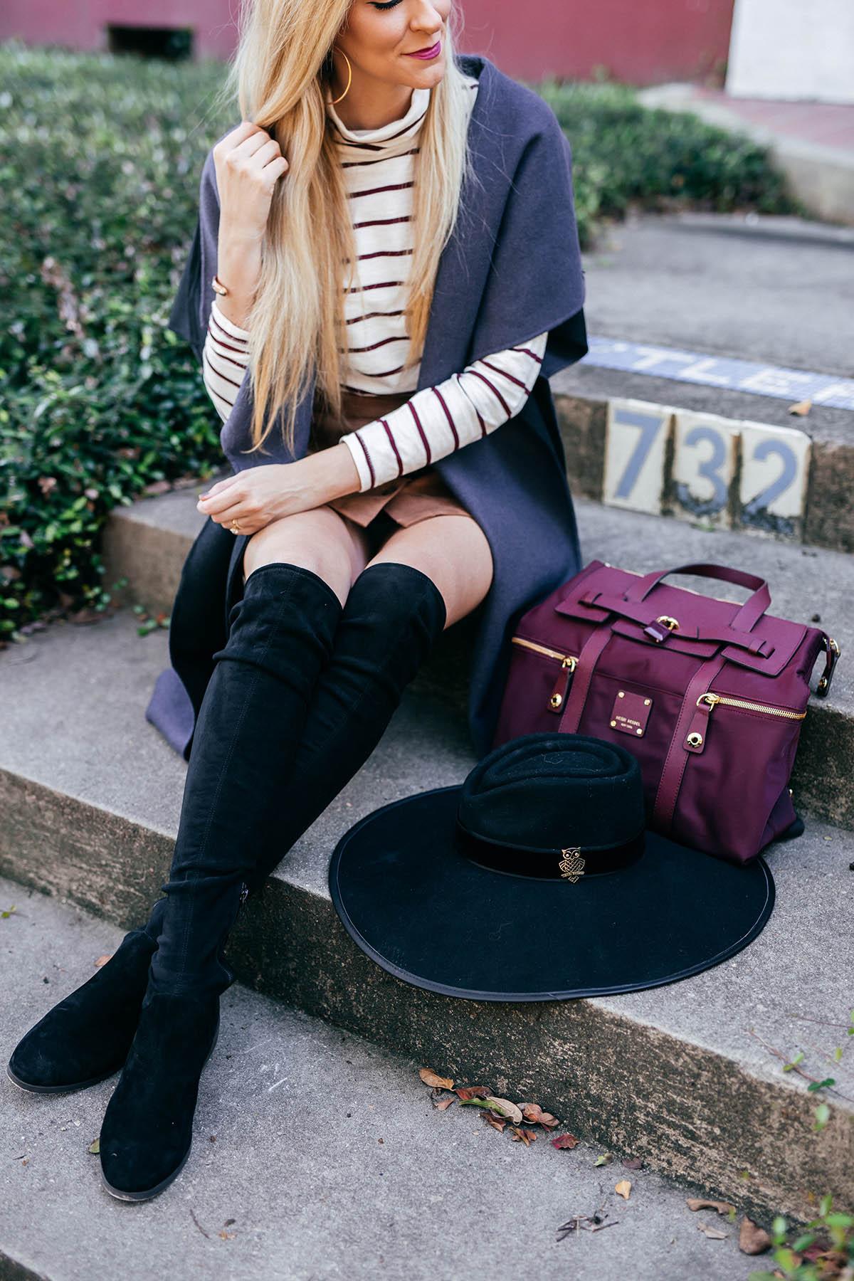 Easy Outerwear Options   Henri Bendel Reversible Vest   Black OTK Boots Under $100